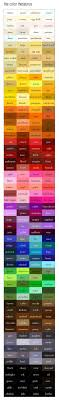 Cool Color Thesaurus! 240 Colors & Names on an Infographic
