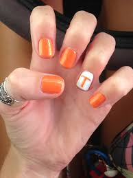 Tennessee Football Nail Designs Tennessee Nails Gbo Orange Nail Designs Pretty Nail Art