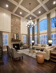 large living room layout amazing large living room with ceiling stone fireplace dark wood floor to curtain patterned area rug chandelier cook idea layout