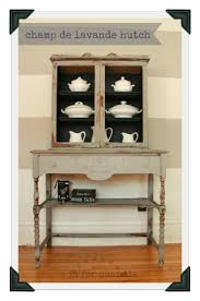 Gorgeous hutch in a Trophy/Ironstone mix with Artissimo interior by Q is  for Quandie