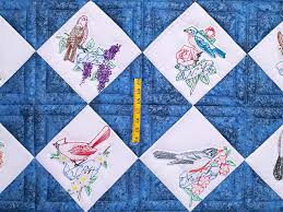 birds of United states quilt blocks | Embroidered State Birds and ... & Embroidered State Birds and flowers Quilt -- gorgeous cleverly made Amish  Quilts from Lancaster Adamdwight.com