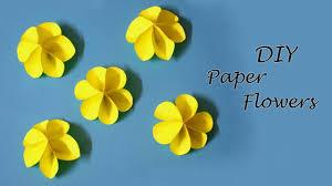 Paper Flower Craft Ideas Diy Paper Flowers Easy Paper Craft Ideas For Kids Little Crafties