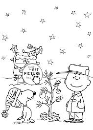 Charlie Brown And Christmas Coloring Pages