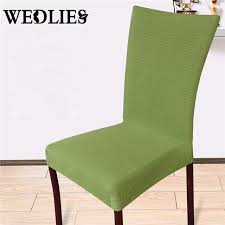 chair covers solid color universal stretch polyester elastic spandex party wedding for dining kitchen chair home