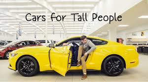 sports cars for tall guys