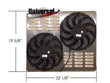 spal dual fan 19x28 aluminum shroud w dual spal electric puller fans 30100411 usa made