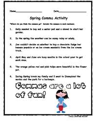 Spring Comma Activity