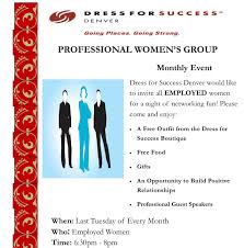 join our professional women s group pwg dress for success denver for more information and or to join please contact gloria padilla at denverpwg dressforsuccess org