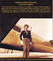 irene bolam and the decline of the amelia earhart society part ii  by now a collector s item this is the back of the booklet rollin reineck sent