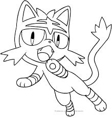 Disegno Di Litten Dei Pokemon Da Colorare Con Immagini Pokemon Da