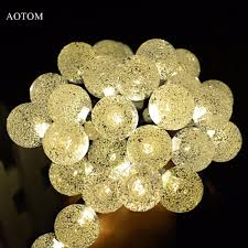 whole solar powered led outdoor string lights 6m 30leds crystal ball globe fairy strip lights for outside garden party holiday led outdoor string
