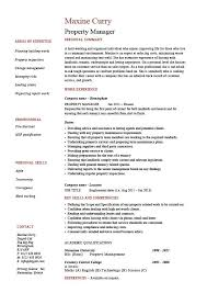Property Manager Resume Cool Property Manager Resume Example Sample Template Job Description
