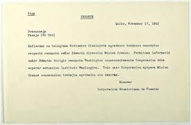 Resignation Memo Copy Of Urgent Memo From Edwin R Kinnear Re Resignation Of Allen