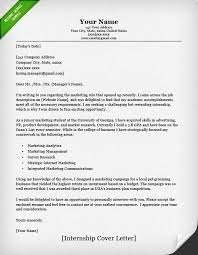 Sample Cover Letter For Internship Classy Cover Letter Template For Internship