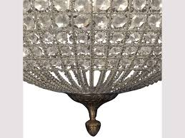 round crystal effect chandelier with leaf decoration small