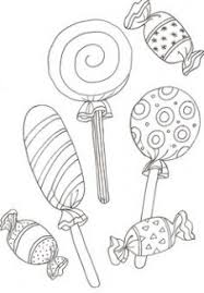 Candy Coloring Pages Three Lollipop Candy Coloring Page Cookie