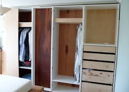 Bedroom Wardrobe Cabinets Before Doors Added