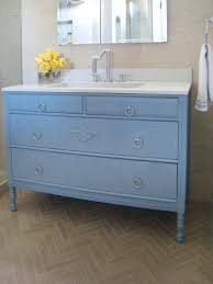 turn a cabinet into a bathroom vanity