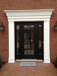 Marvelous Black Wooden Entrance Door With Glass Door Paneling And ...