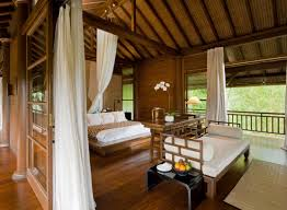 Como Shambhala Estate Bali Wooden And White Pavilion Style Guest Room