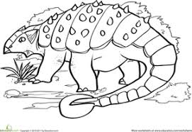 dinosaurs to color. Perfect Dinosaurs Kindergarten Coloring Worksheets Color The Dinosaur Ankylosaurus With Dinosaurs To P
