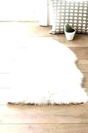 ikea fur rug wash white faux fake grey
