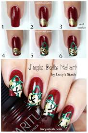 Jingle Bells Nail Art with Tutorials - Lucy's Stash