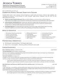 Sample Elementary Teacher Resume Special Education Teacher Resume