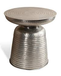 hagen hammered silver side table view full size