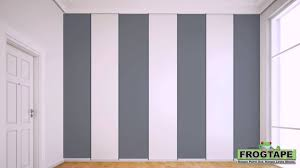 On The Wall Painting How To Paint Stripes On A Wall Youtube