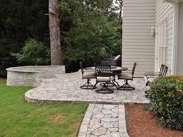 granite flagstone stamped concrete vs patio
