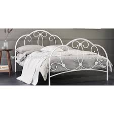 China Metal bed frame with fancy headboard, strong bed steads on ...
