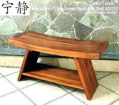 teak corner shower stool with shelf bench uk bathrooms gorgeous small teak corner shower bench