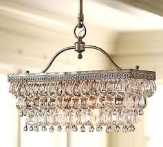 glass drop rectangular chandelier um