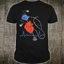 Cardiology T Shirt Designs Heart Health Care Cardiology Stethoscope Ekg Doctor Md Nurse Shirt