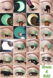 beautiful eye makeup made with emerald green eye shadow that looks