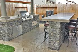 outdoor kitchen design stone bar barbecue kits custom patio cover designs with roofs plans and