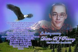 Memorial to Dustin Weber, 1988 - 2012.