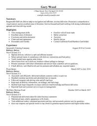 Cv For Driver Job Driver Resume Template For Microsoft Word Livecareer