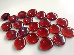 vases design pictures big maroon red stone flat glass beads for fish tank aquarium decoration