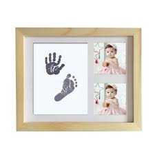 diy cute photo frame newborn baby handprint footprint touch ink pad baby growth memorial photo al shower gift decoration baby boy keepsake gifts wedding