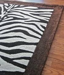 decoration zebra print kitchen decor fluffy rug rawhide