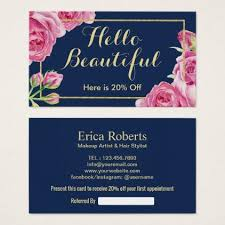 makeup artist hair salon vine fl referral business card hair salon gifts customize personalize ideas diy
