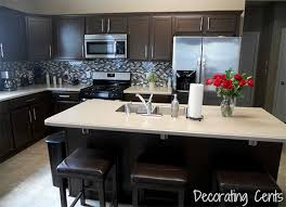 dark kitchen cabinets. Dark Kitchen Remodel Idea With Brown Cabinet Ans Island Also Stools Cabinets U