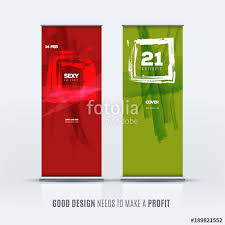 Artistic Displays Banner Stands Amazing Business Vector Set Of Modern Roll Up Banner Stand Design With