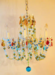 multi colored crystal chandelier crystal