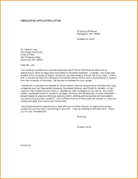 Cover Letter Sample Unsolicited Resume Lv Crelegant Com