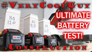 Milwaukee M18 Batteries Battery Comparison Test 6 0 Vs 9 0 Vs 12 0
