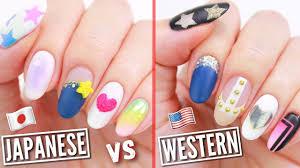 Japanese VS American Nail Art! - YouTube