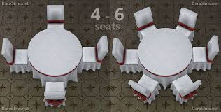 round table 6 seats sims 4